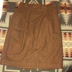 Vintage Wool Blend Pencil Skirt